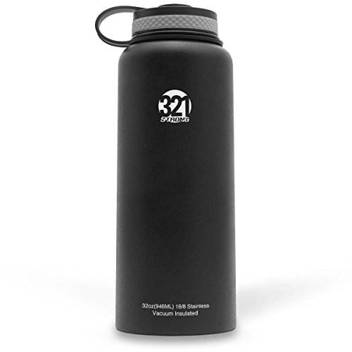 Vacuum Insulated Wide Mouth Stainless Steel Sweat Proof Water Bottle 32 or 40 Ounce