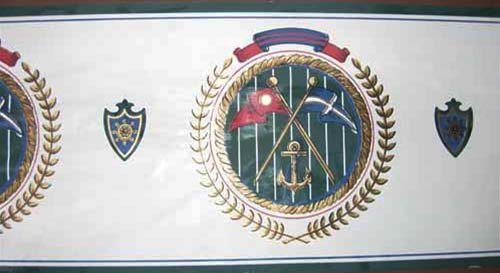 Nautical Crest  Wallpaper Border