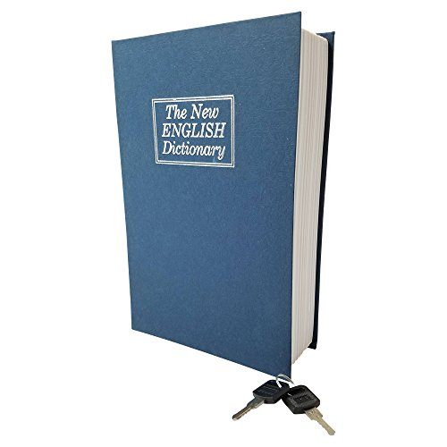 Book Safe Box Dictionary Diversion Lock Box with Key Closing - Portable Book Safe - Store Money, Jewelry, and other Documents (Small (7.25