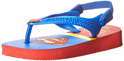 Havaianas Baby Heroes Thong Sandal (Toddler), Ruby Red, 19 BR(5 M US - Sale Havaiana