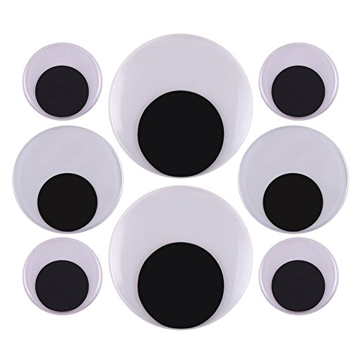 DIYASY 2 Inch 3 Inch 4 Inch Large Googly Wiggle Eyes with Self-Adhesive for Christmas Decorations -