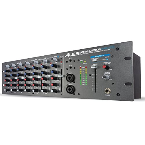 Alesis Multimix 10 Wireless | 10-Channel Mixer with Integrated Bluetooth Wireless Capability (Alesis Audio Mixer)