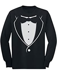 Tuxedo With Black Bow Tie Funny Toddler/Kids Long Sleeve T-Shirt