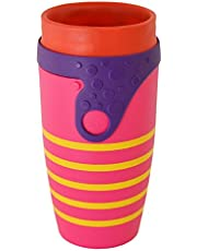 Neolid Reusable Twizz Travel Mug. with Straw .Lidless, 100% Leak-Proof, Insulated, BPA Free. Coffee Cup 350ml (Ipanema)