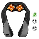 Neck and Shoulder Massagers, Habor Back Massager with 8 Massaging Nodes Shiatsu Massager 3 Adjustable Speed Modes, for Relieving Sore Muscles and Body Neck Back Waist Thighs Shanks Foot Relaxation Home Car and Office Use
