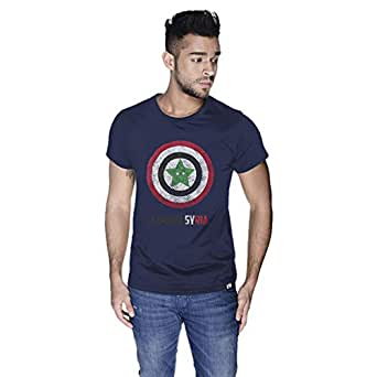 Creo Captain Syria T-Shirt For Men - M, Navy