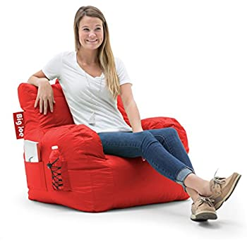 Merveilleux Big Joe Dorm Bean Bag Chair, Flaming Red