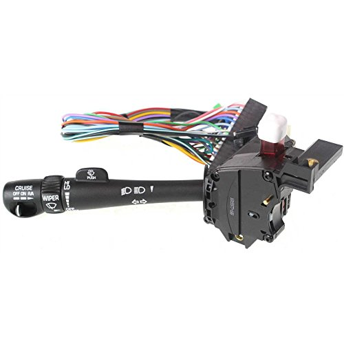 Combination Switch compatible with Chevrolet S10 88-04 / Blazer 98-05 Cruise Control High and Low Beam Dimmer Turn Signal ()