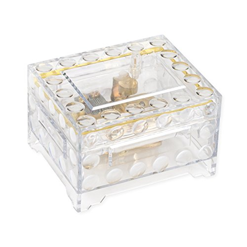 Splendid Music Box Co. Clear Trunk Shaped Acrylic Musical Keepsake Box Plays Edelweiss by Splendid Music Box Co.