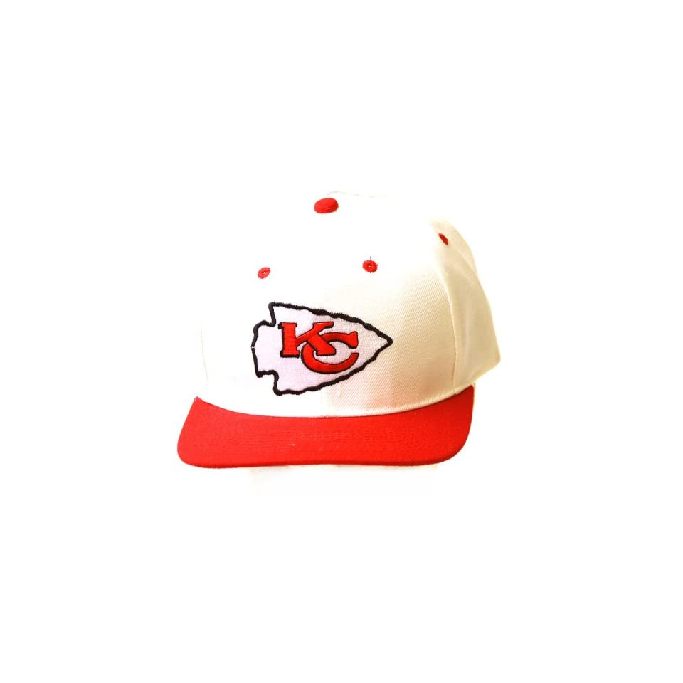 Kansas City Chiefs NFL Adjustable Snapback Hat, White/Red
