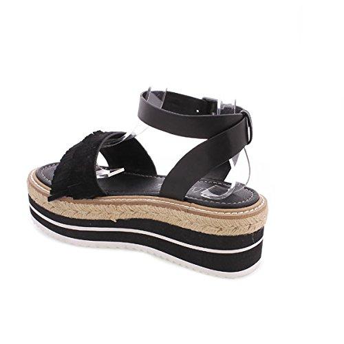 SIXTY SEVEN Damen 77921 Kleid-Schuhe black suede / schwarz Pobur