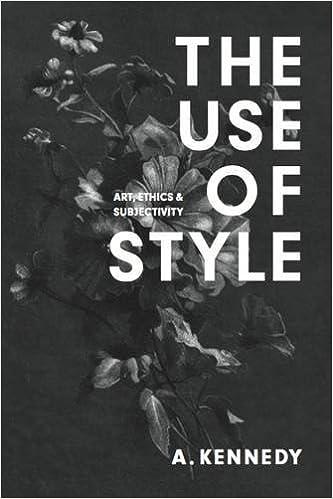 the use of style art ethics subjectivity