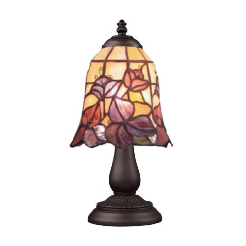 Elk 080-Tb-17 Mix And Match Floral Garden Tiffany Table Lamp, Bronze