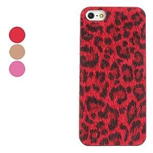 Elegant Design Leopard Print Pattern Hard Case for iPhone 5/5S (Assorted Colors) , Red