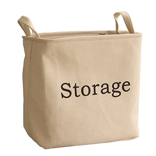 StarVast Storage Bin, Portable Foldable Cotton & Jute Org...
