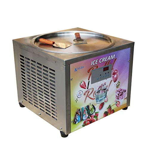 Free shipment 45cm (18 inches) single round ice pan machine fried ice cream roll machine instant fry ice cream machine roll ice cream machine with full refrigerant, AUTO DEFROST and PCB smart AI temp. controller