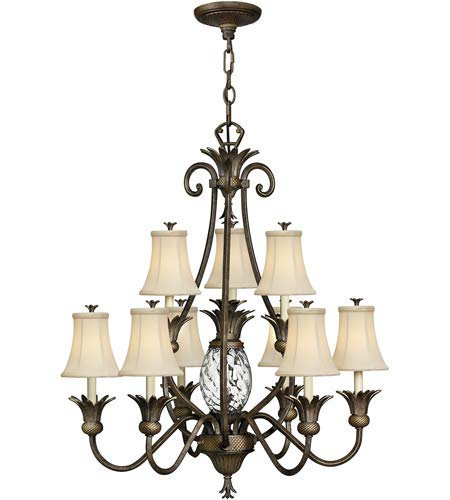 Pendants 10 Light Fixtures with Pearl Bronze Finish Cast Aluminum Material Candelabra 33