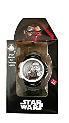 Star Wars Storm Trooper LCD Watch with Flashing Lights - Grey Band