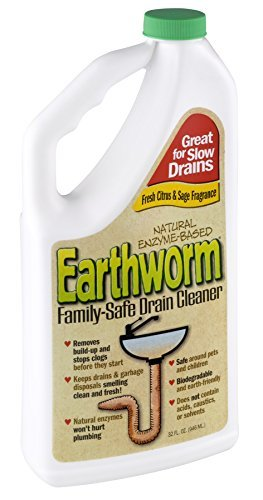 Earthworm Family Safe Drain Cleaner 32 oz. (Pack of 6)