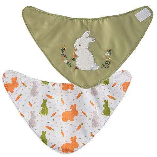 - Mary Meyer 2 Piece Wonderlicious Baby Bibs, Oatmeal Bunny