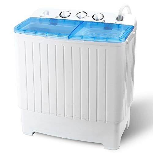 Adumly Large Capacity Washing Machine 11lbs Washer + 6.6 Spin Dryer