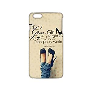 Ultra Thin Marilyn Monroe give a girl the right shoes Quote 3D Phone Case for iPhone 6