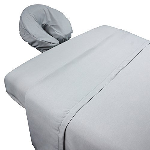 Mirage Sheet (Tranquility Microfiber Massage Sheet Sets By Body Linen - Lightweight, Long-Lasting Microfiber Massage Table Sheet Set - Stain-Resistant, Soft and No Pilling {Mirage)