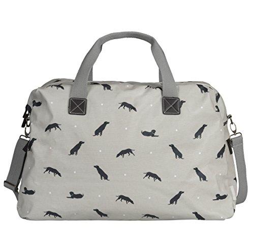 Sophie Allport Wachstuch Tasche–Weekend–Labrador Design