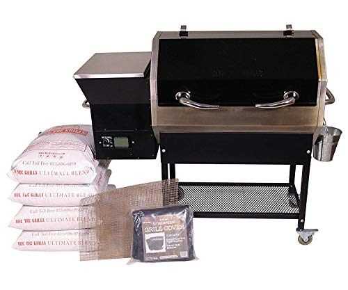 REC TEC Grills Stampede | RT-590 | Bundle | WiFi Enabled | Portable Wood Pellet Grill | Built in Meat Probes | Stainless Steel | 30lb Hopper | 4 Year Warranty | Hotflash Ceramic Ignition System ()