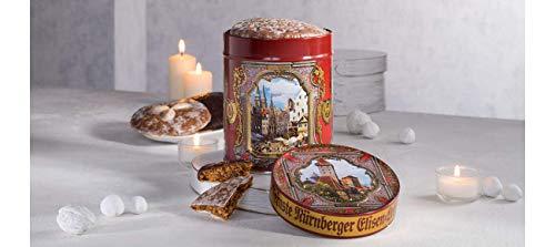 Lebkuchen Schmidt Hexagonal Elisen Tin filled with Premium Lebkuchen Soft Gingerbread, German Import, 300g