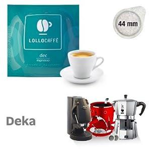 100 CIALDE caffè LOLLO miscela DECAFFEINATO carta filtro pods Ese 44mm