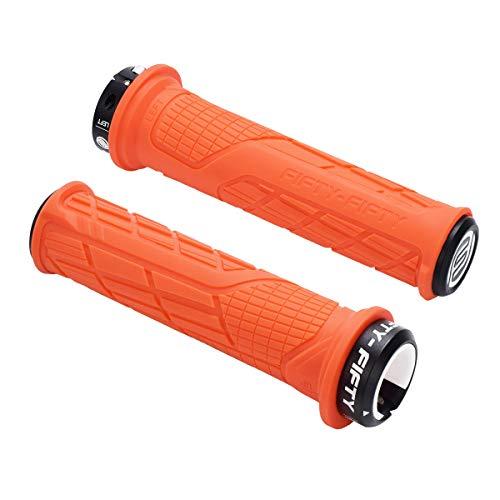 FIFTY-FIFTY Single Lock-on Mountain Bike Grips (Orange)