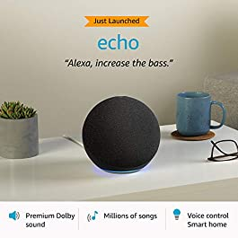 All-new Echo (4th Gen) | Premium sound powered by Dolby and Alexa (Black)