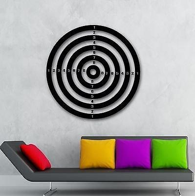 Target Decals - Wall Stickers Vinyl Decal Darts Sport Target Shooting Range Play Room VS927