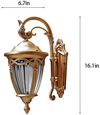 E27 Outdoor wandlamp klassieke stijl hangende wandlantaarn waterdichte tuinlamp veiligheidsverlichting muur aluminium lamp voor hek gang buiten muur