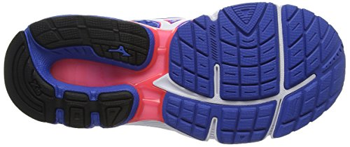 Mizuno Wave Inspire 13 (W), Zapatillas de Running Mujer, Red Azul (Strong Blue/white/diva Pink)