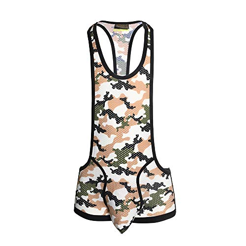 Massive Camouflage Mesh Singlet, Camouflage Print, Small
