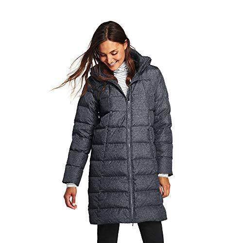 Stone Heather - Lands' End Women's Winter Long Down Coat, XL, Dark Stone Heather