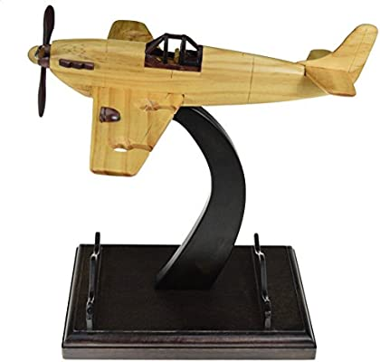 The Vino Hangar Great Gift for Pilot Tabletop Wooden Plane Wine Glass Hanger and Bottle Holder Aviation Enthusiast Airplane Shaped Wine Glass Rack and Wine Bottle Rack