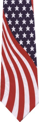 American Flag New Novelty Necktie Tie
