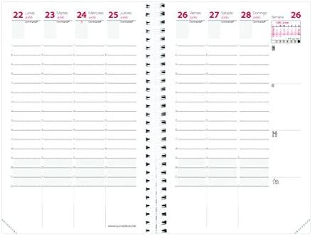 Quo Vadis 539058Q - Recambio de agenda 2020 Time & Life Pocket Castellano