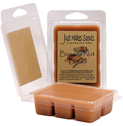 Just Makes Scents 2 Pack - Banana Nut Bread Scented Soy Wax -