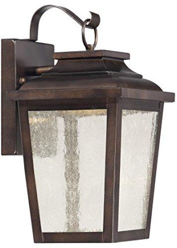 - Minka Lavery 72171-189-L Irvington Manor Outdoor Wall Sconce, 1-Light LED 13 Watts, Chelesa Bronze