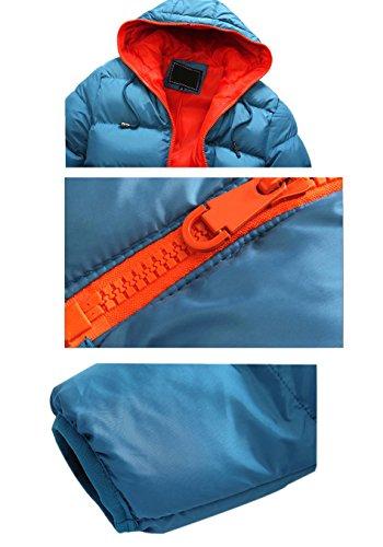 Manteau Capuche Hiver Masculine Lanbaosi Puffy Orange Doudoune Avec Épaissir Blue wBw1qTU