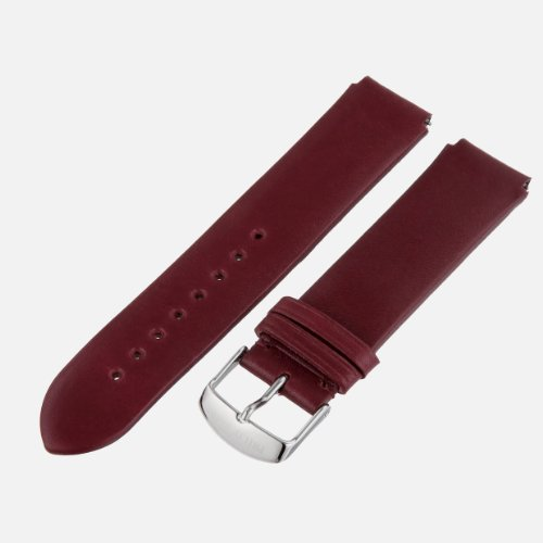 Philip Stein Watch Bands-Strap 2-CIWI 20mm Wine Italian Calf Watch Strap