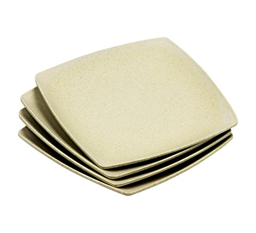 (Japanese Style Eco-Friendly Natural Bamboo Fiber Square Plates 11