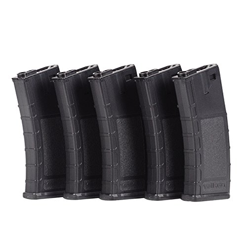Valken Tactical Airsoft RMAG Hi Cap Thermold 300 Magazine (5 Pack), Black