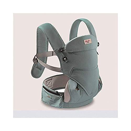 GGGGG Travel Baby Carrier Suitable for Young Children, use: Independent Waist Stool, Combination, Chest, Back, Kangaroo/Weight Bearing: 25KG / Mint Green, Breast Feeding Baby Carrier,4