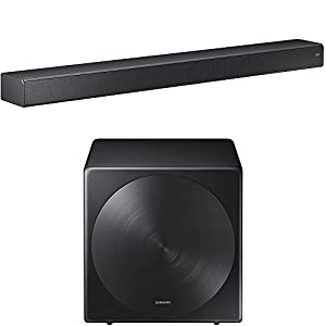 Samsung HW-MS750 Sound+ Premium Soundbar with Samsung SWA-W700 Wireless Sleek Unibody Design Subwoofer
