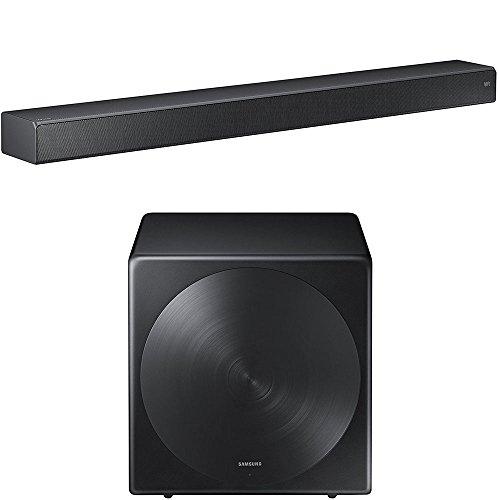 Samsung HW-MS750 Sound+ Premium Soundbar with Samsung SWA-W700 Wireless Sleek Unibody Design Subwoofer by Samsung